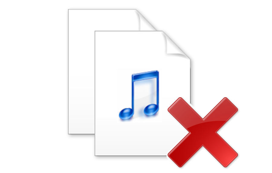 Remove duplicate audio files.
